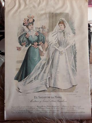 Lamina antigua El salon de la moda