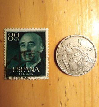 Sello y moneda franco