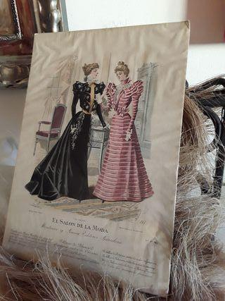 Lamina antigua El salon de moda