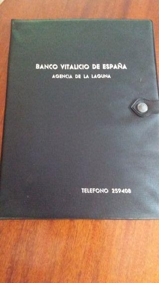 carpeta vintage banco vitalicio