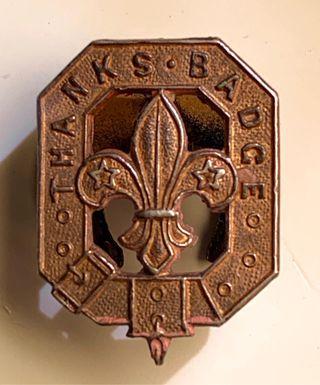 Antigua Insignia Premio Servicio Scout. 1950/60