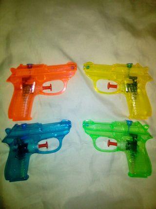 Rainbow coloured water squirt gun