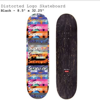 Supreme distored logo Skateboard