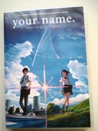 Pelicula de your name (dvd)