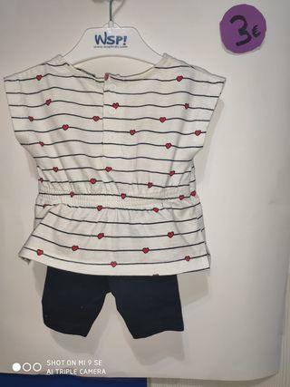 Conjunto bebé de 2 piezas. Camiseta y leggin.