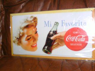 Chapa publicitaria de Coca Cola vintage
