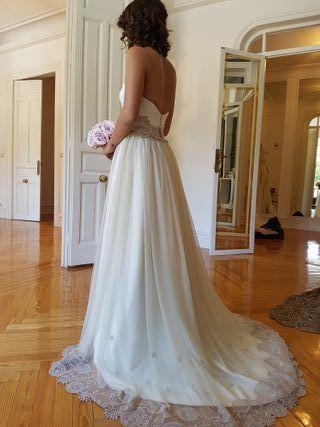 Vestido novia no novia boho chic vintage a mano