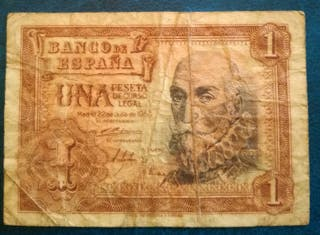 Billete de una peseta español de 1953