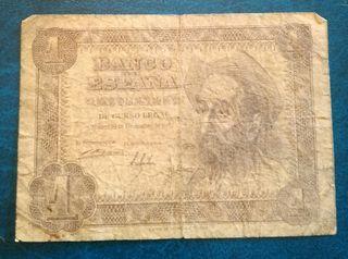 Billete de una peseta español de 1951