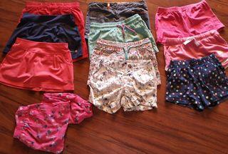 11 pantalones cortos y falditas
