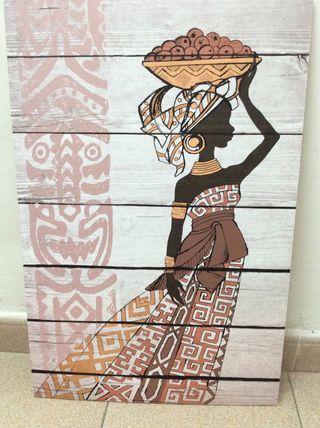 Cuadro mujer africana
