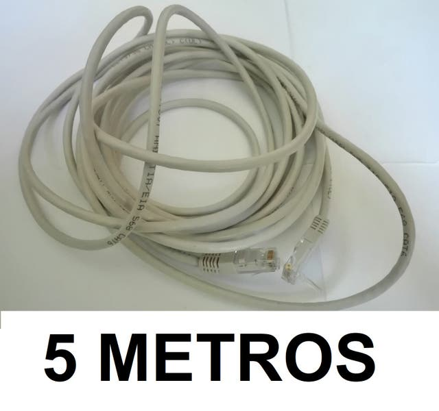 Cable red ethernet RJ45. 5 metros. Cat.6