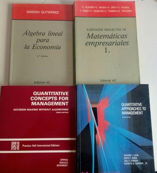 Lote 4 libros Matemáticas Empresariales.