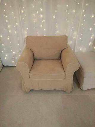 Sofá individual / sillón Ektorp de Ikea