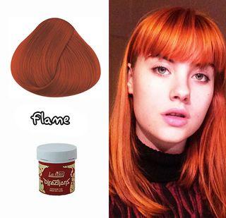 Tinte Cabello Semipermanente Pelo Naranja Rojo
