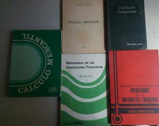 Lote 5 libros de Matemática Financiera.