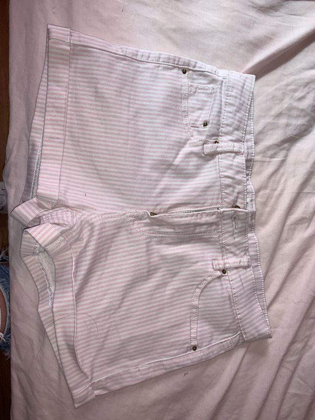 Pantalón rallas rosas