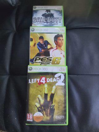 tres juegos Xbox 360