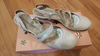 Zapato boda blanco talla 38