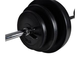 Banco musculación con soporte pesas, pesas 30,5kg