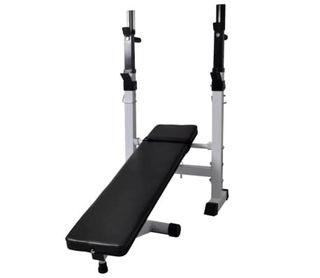 Banco ejercicios con soporte pesas, pesas 60,5kg