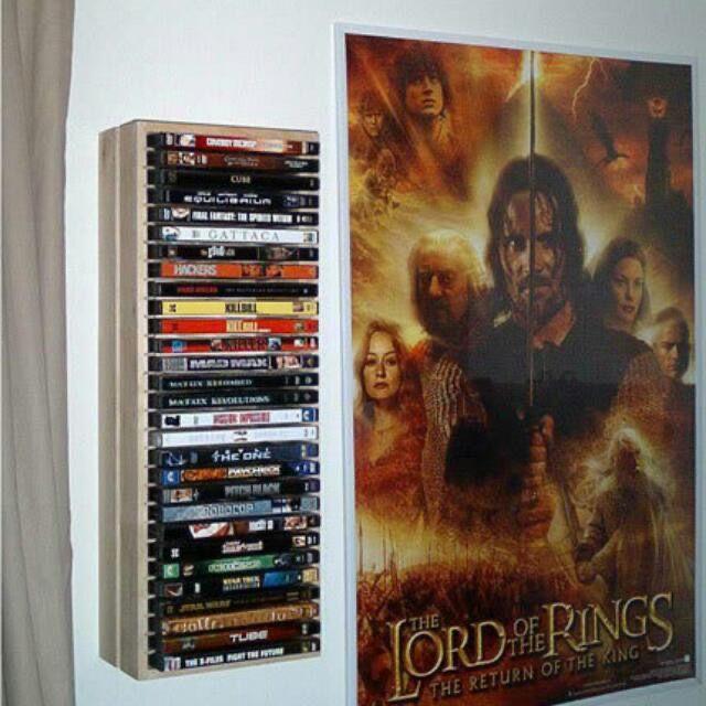 Estantes para dvds de madera