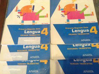 Libros trimestrales Lengua cuarto primaria