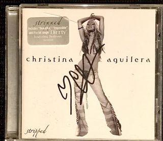 AUTOGRAFO DE CHRISTINA AGUILERA - CD ALBUM FIRMADO