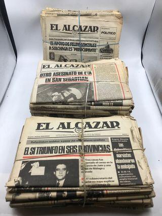 Periódico el Alcázar 100 periódicos años 70/80