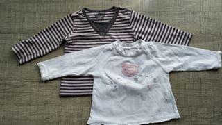Lote camisetas de m/larga de Zarababy T:6-9m.