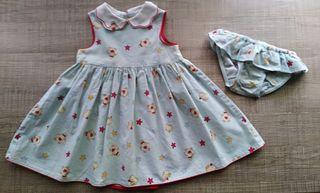 Vestido con braguita a juego bebé T:9-12m.