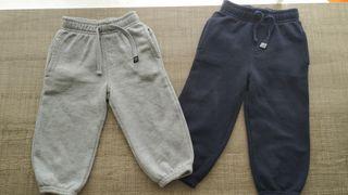 Lote de 2 pantalones chándal bebé T:12-18m.