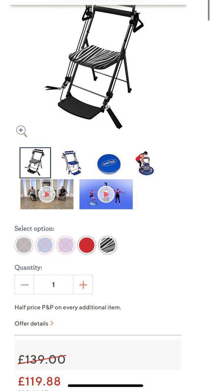 Chair GYM Blue 010