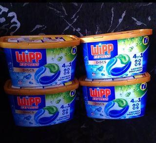 4 cajas jabón en capsulas + perlas de olor