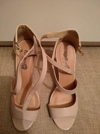 zapatos color nude 38 39