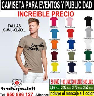 Camisetas para eventos y publicidad