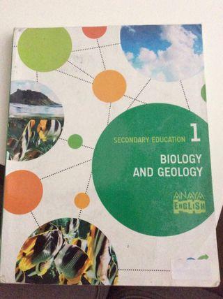 Libro de biology and geology(en inglés) de 1ºeso