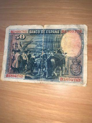 Billete 50 pesetas. Madrid De 1928
