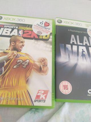 Dos videojuegos de Xbox 360