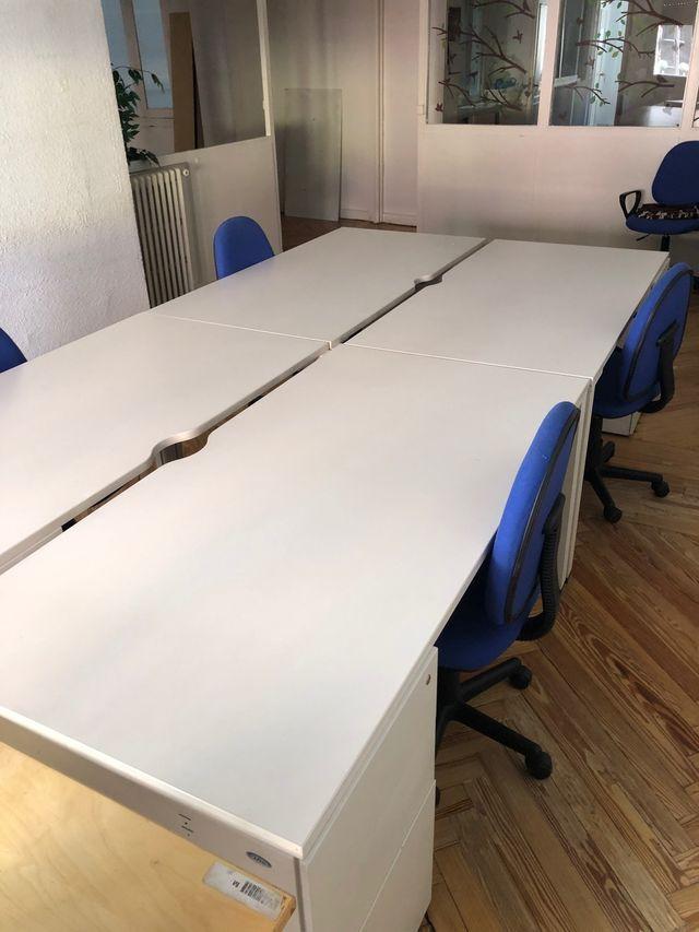 Mesa despacho oficina blanca