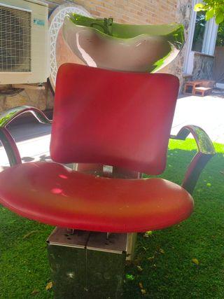 sillón lava pelos peluqueria
