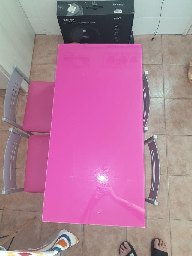 mesa cocina extensible con 4 sillas