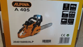 Motosierra gasolina ALPINA A405, espada 40 cm.
