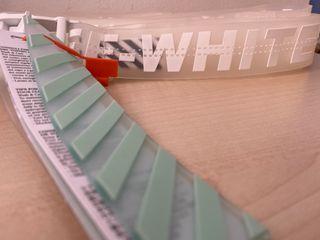 off White transparent belt