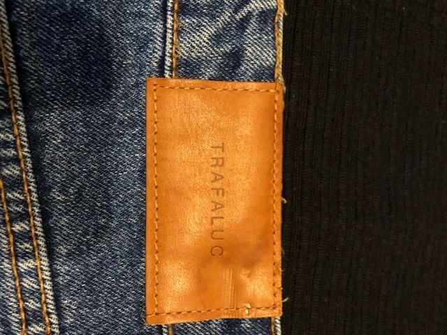 Falda mini tejana Zara t.M