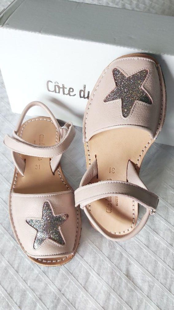Menorquina Niña Estrella Nobuk Caramelo Colección Verano
