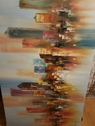 Cuadro moderno New York /pintura al oleó - lienzo