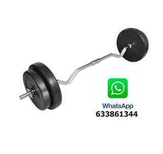Pesas Barra de Musculacion 30Kg Deporte Fitness