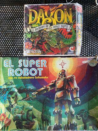 5 Juegos mesa '70s, '80s- Dagon, El Super Robot...