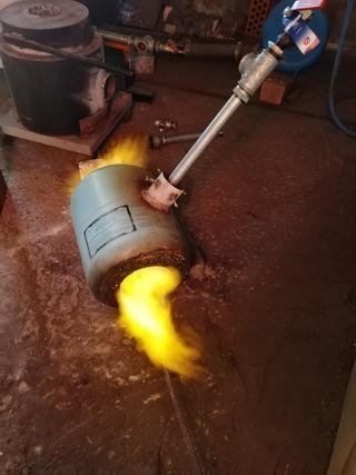 fragua forja gas con quemador